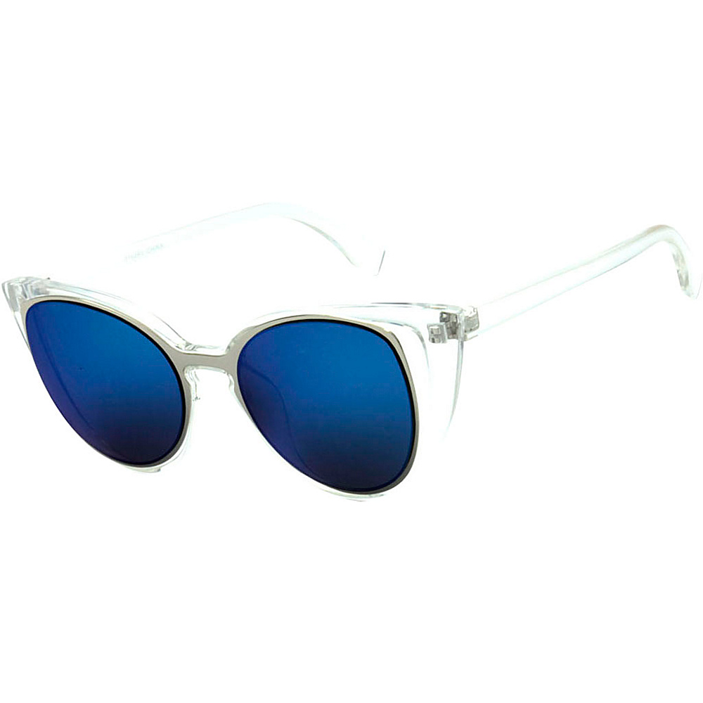SW Global Womens Urban Fashion Double Frame Catty Cateye Sunglasses Blue - SW Global Eyewear - Fashion Accessories, Eyewear