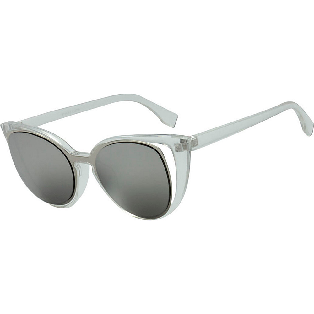 SW Global Womens Urban Fashion Double Frame Catty Cateye Sunglasses Grey - SW Global Eyewear - Fashion Accessories, Eyewear
