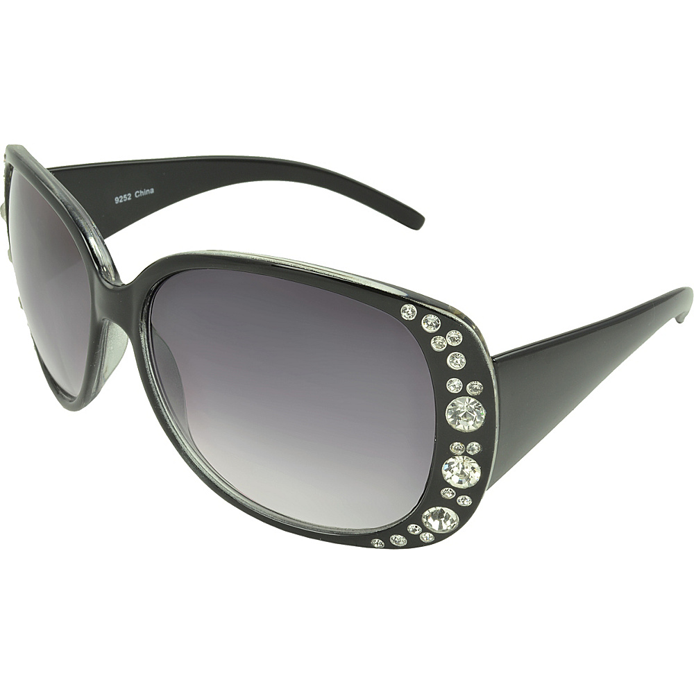 SW Global Rhinestone Shield Fashion Sunglasses Black - SW Global Eyewear - Fashion Accessories, Eyewear