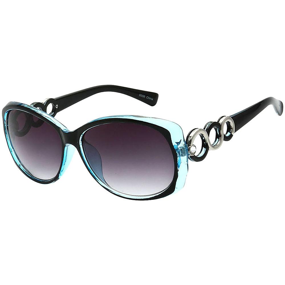 SW Global Womens Eternal Dual Tone Fashion Sunglasses Blue - SW Global Eyewear - Fashion Accessories, Eyewear