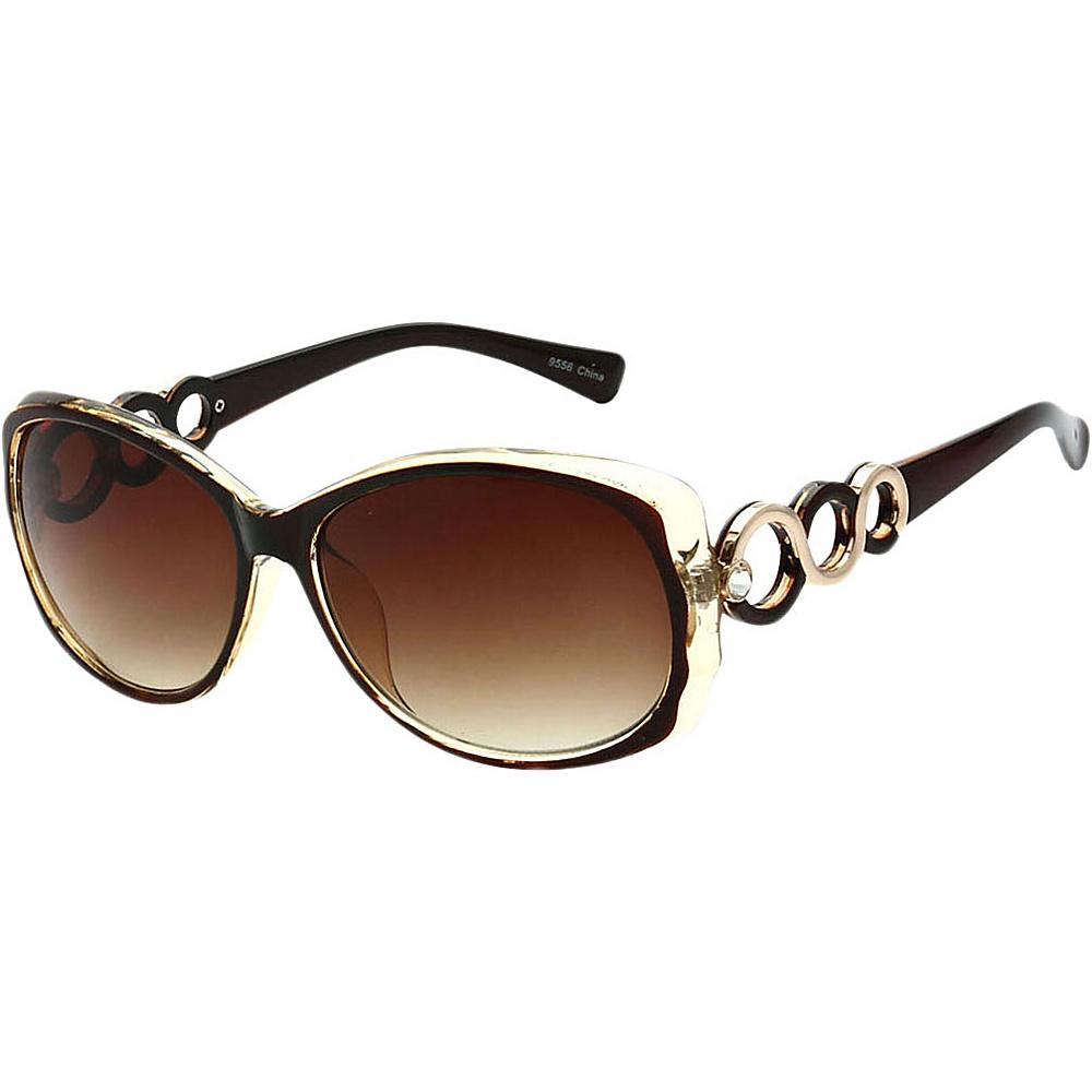 SW Global Womens Eternal Dual Tone Fashion Sunglasses Yellow - SW Global Eyewear - Fashion Accessories, Eyewear