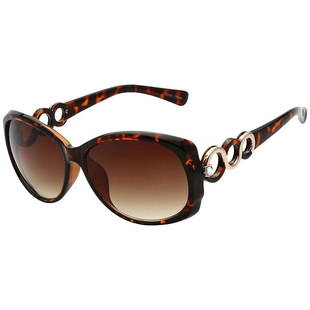 SW Global Womens Eternal Dual Tone Fashion Sunglasses Brown - SW Global Eyewear - Fashion Accessories, Eyewear