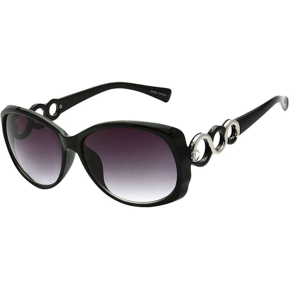SW Global Womens Eternal Dual Tone Fashion Sunglasses Black - SW Global Eyewear - Fashion Accessories, Eyewear