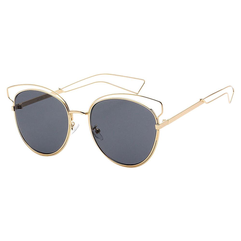 SW Global Womens Cute Fun Cateye UV400 Sunglasses Gold Black - SW Global Eyewear - Fashion Accessories, Eyewear