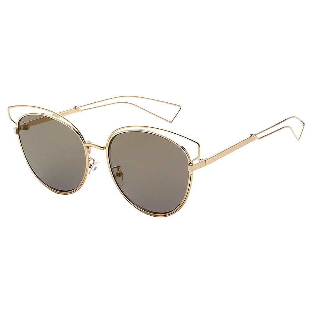 SW Global Womens Cute Fun Cateye UV400 Sunglasses Gold Brown - SW Global Eyewear - Fashion Accessories, Eyewear