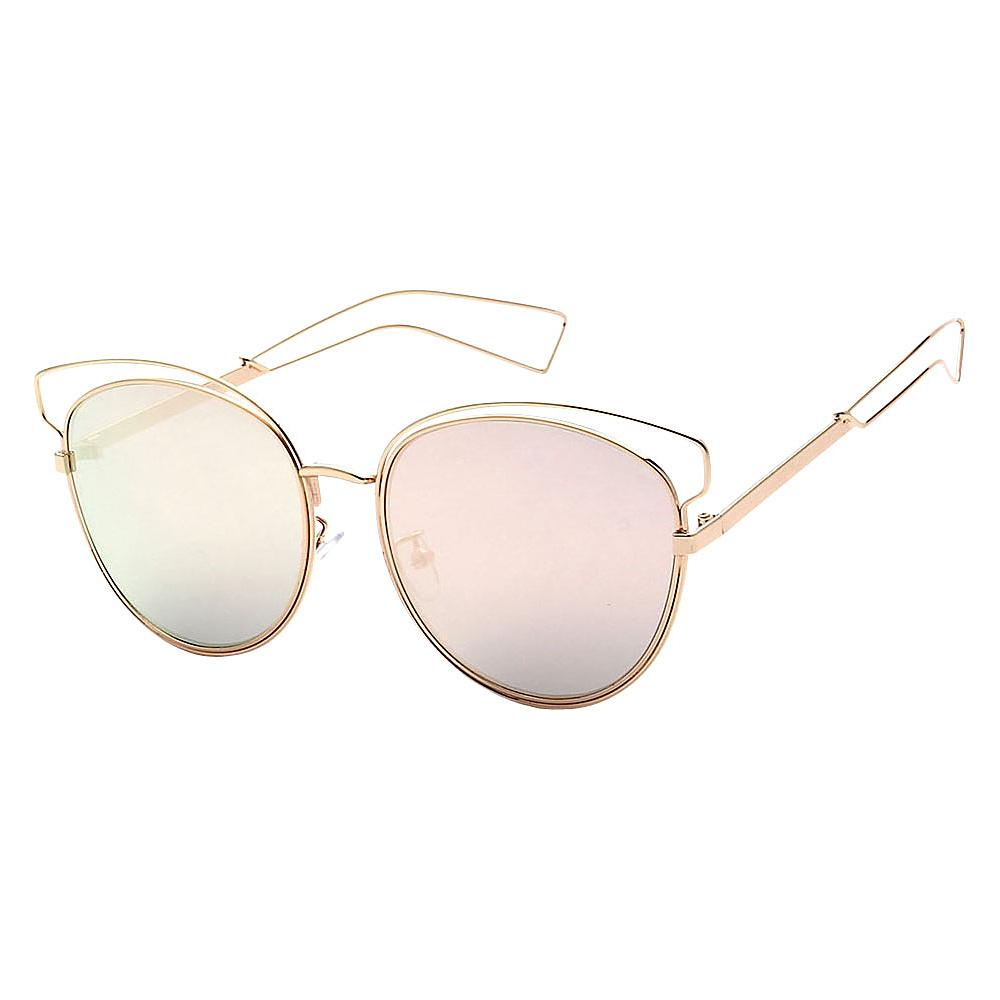 SW Global Womens Cute Fun Cateye UV400 Sunglasses Gold Pink - SW Global Eyewear - Fashion Accessories, Eyewear