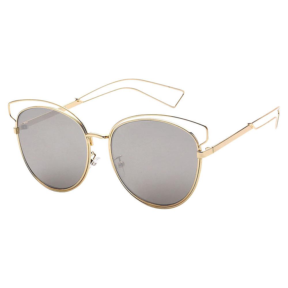 SW Global Womens Cute Fun Cateye UV400 Sunglasses Gold Silver - SW Global Eyewear - Fashion Accessories, Eyewear