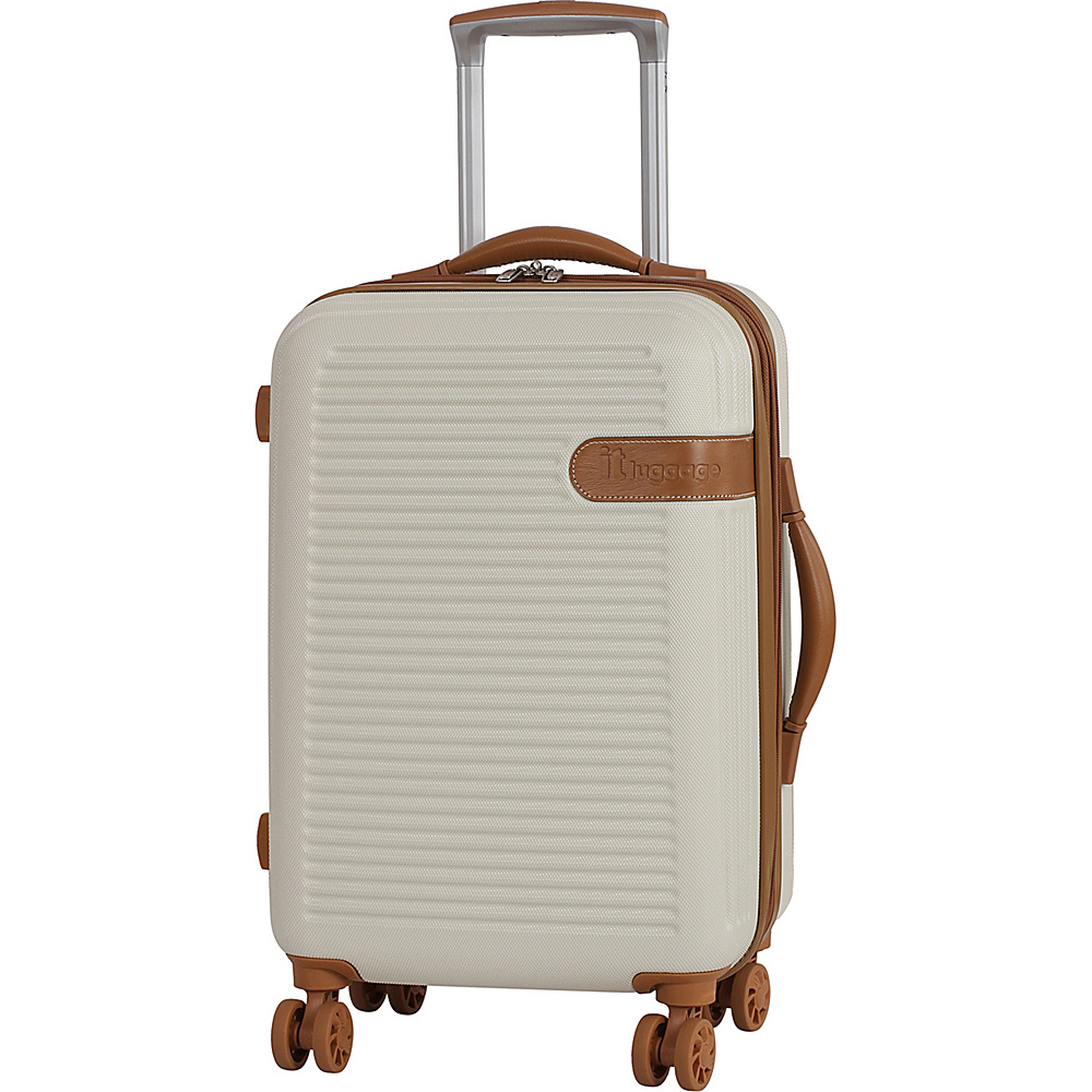 it luggage Valiant 22 Hardside Carry-On Spinner Luggage Cream with Almond Trim - it luggage Hardside Carry-On
