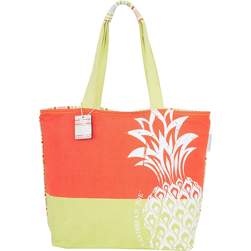 Sun N Sand Tropical Icons Shoulder Tote Orange - Sun N Sand Fabric Handbags - Handbags, Fabric Handbags