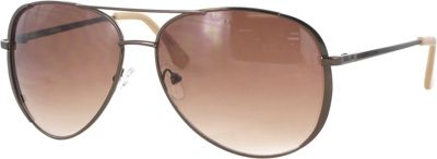 Kay Unger Aviator Sunglasses Coffee/Gradient Brown Lens - Kay Unger Eyewear
