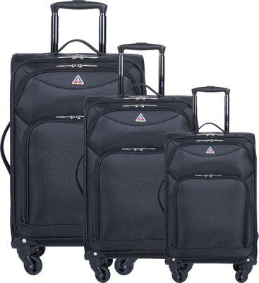 inUSA Light-Fi Ultra-Light 3 Piece Spinner Luggage Set Bl...