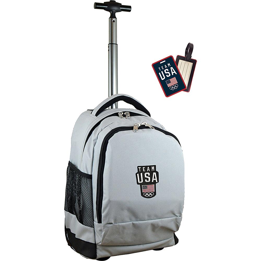 MOJO Denco Rolling Laptop Backpack Gray - MOJO Denco Wheeled Backpacks - Backpacks, Wheeled Backpacks