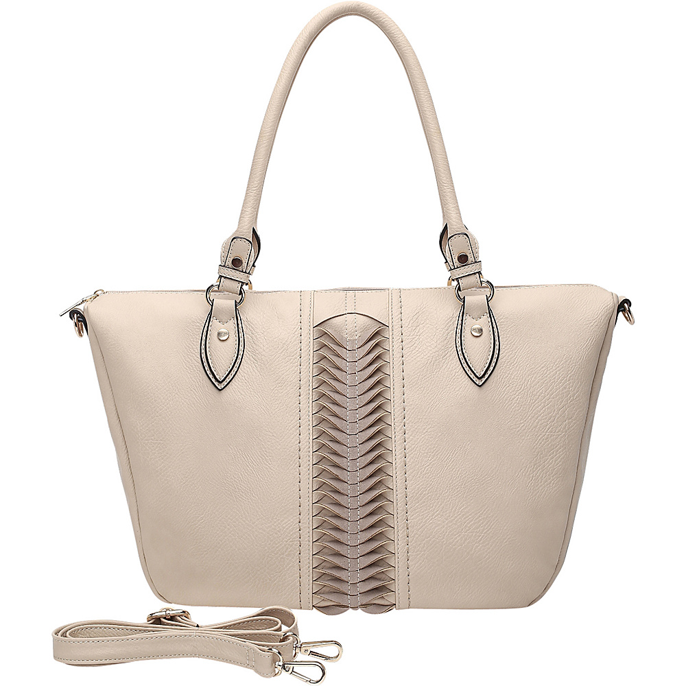 MKF Collection by Mia K. Farrow Indomitable Veita Tote Beige - MKF Collection by Mia K. Farrow Manmade Handbags - Handbags, Manmade Handbags