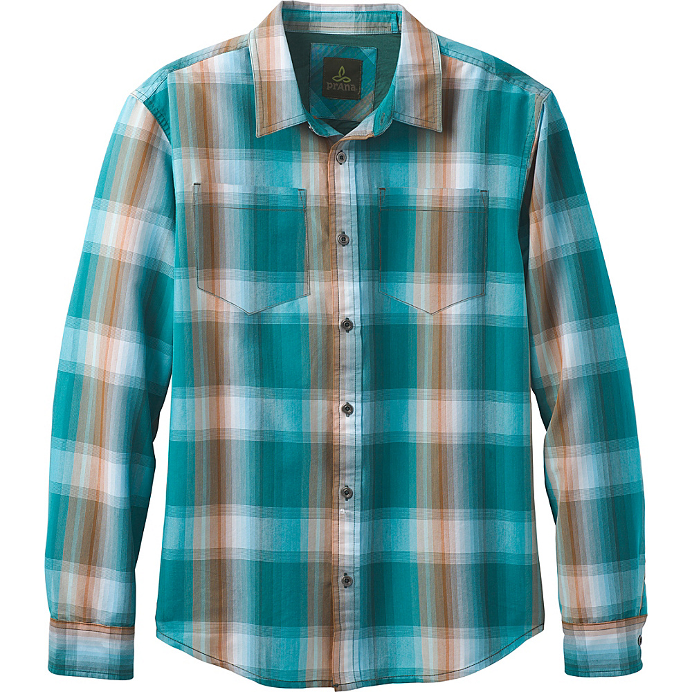 PrAna Holton Flannel XXL - Cast Blue - PrAna Mens Apparel - Apparel & Footwear, Men's Apparel
