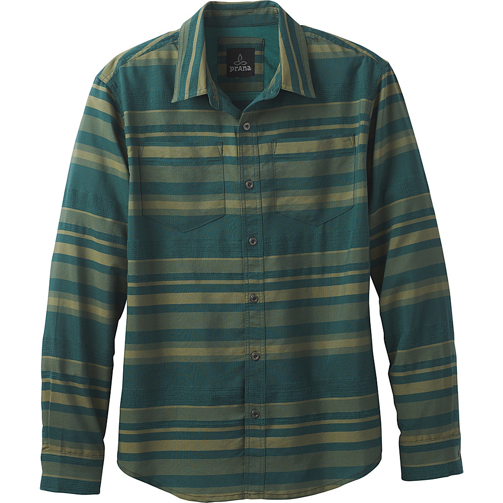 PrAna Holton Flannel S - Deep Balsam - PrAna Mens Apparel - Apparel & Footwear, Men's Apparel
