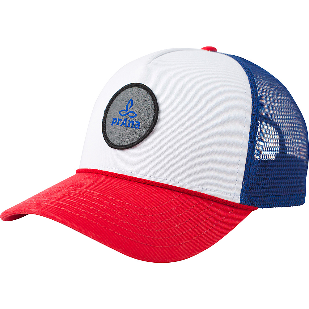PrAna Patch Trucker Hat One Size - Red White Blue - PrAna Hats - Fashion Accessories, Hats
