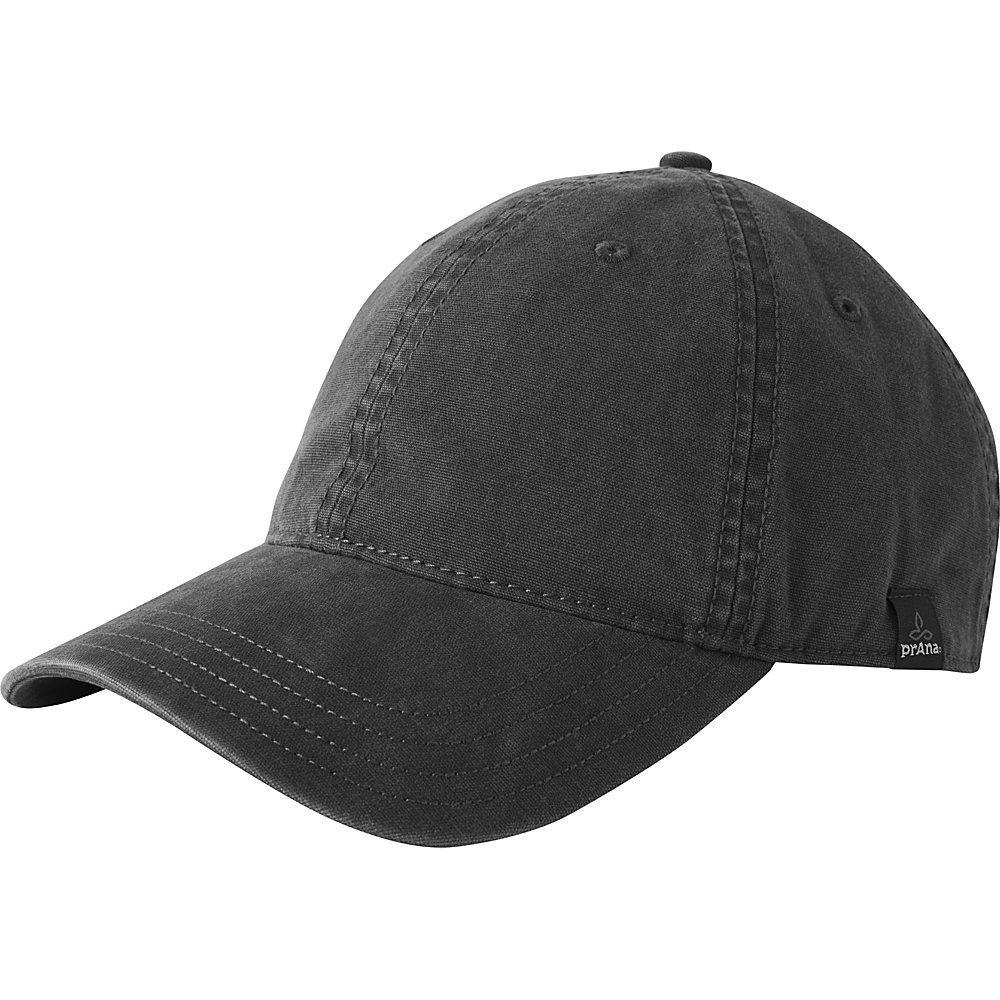 PrAna Bronson Logo Ball Cap One Size - Charcoal - PrAna Hats - Fashion Accessories, Hats