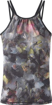 PrAna Balletic Tank L - Black Digi Flower - PrAna Women's Apparel