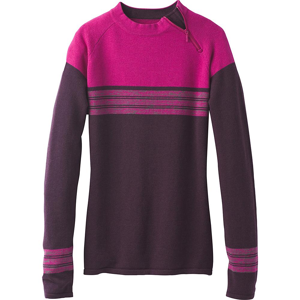 PrAna Mariana Sweater L - Dark Plum - PrAna Womens Apparel - Apparel & Footwear, Women's Apparel