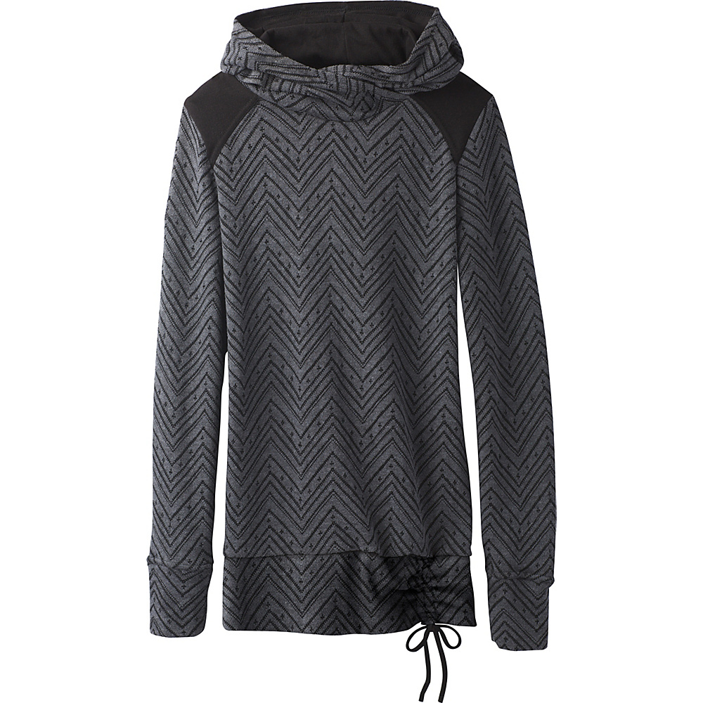PrAna Leland Hoodie M - Charcoal - PrAna Mens Apparel - Apparel & Footwear, Men's Apparel