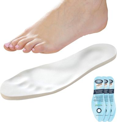 Touch of Eco Memory Foam Insoles - 3 Pack White - Touch of Eco Men's Footwear