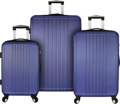 Elite Luggage Versatile 3 Piece Hardside Spinner Luggage Set Purple - Elite Luggage Luggage Sets