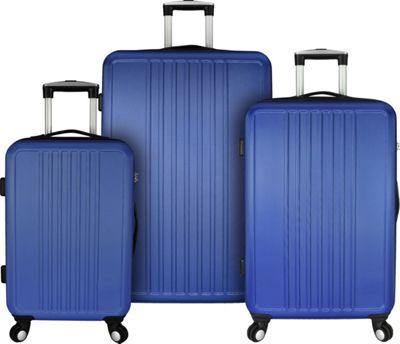 Elite Luggage Versatile 3 Piece Hardside Spinner Luggage Set Blue - Elite Luggage Luggage Sets