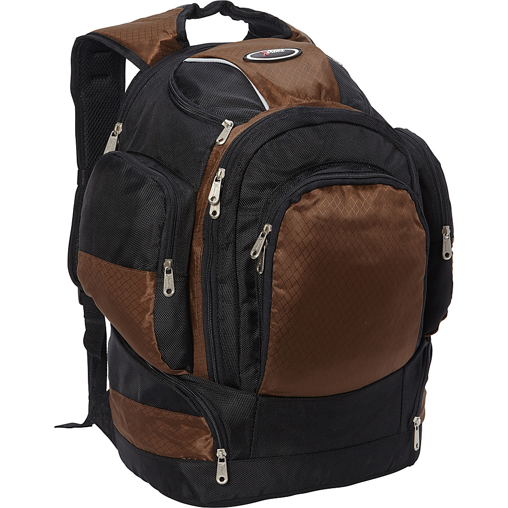 Everest Multi Compartment Backpack Brown - Everest Laptop Backpacks - Backpacks, Laptop Backpacks