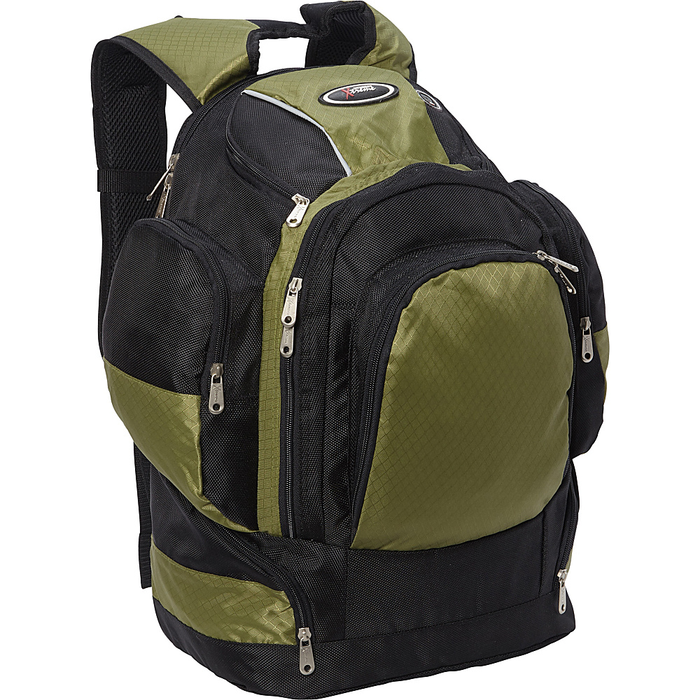 Everest Multi Compartment Backpack Desert Green/Black - Everest Laptop Backpacks - Backpacks, Laptop Backpacks
