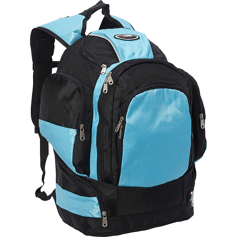 Everest Multi Compartment Backpack Turquoise/Black - Everest Laptop Backpacks - Backpacks, Laptop Backpacks