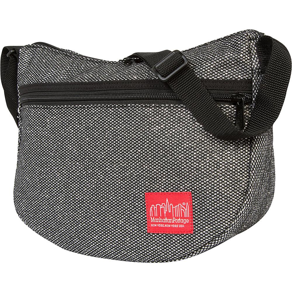 Manhattan Portage Midnight Bowling Green Shoulder Bag Gunmetal Silver - Manhattan Portage Designer Handbags - Handbags, Designer Handbags