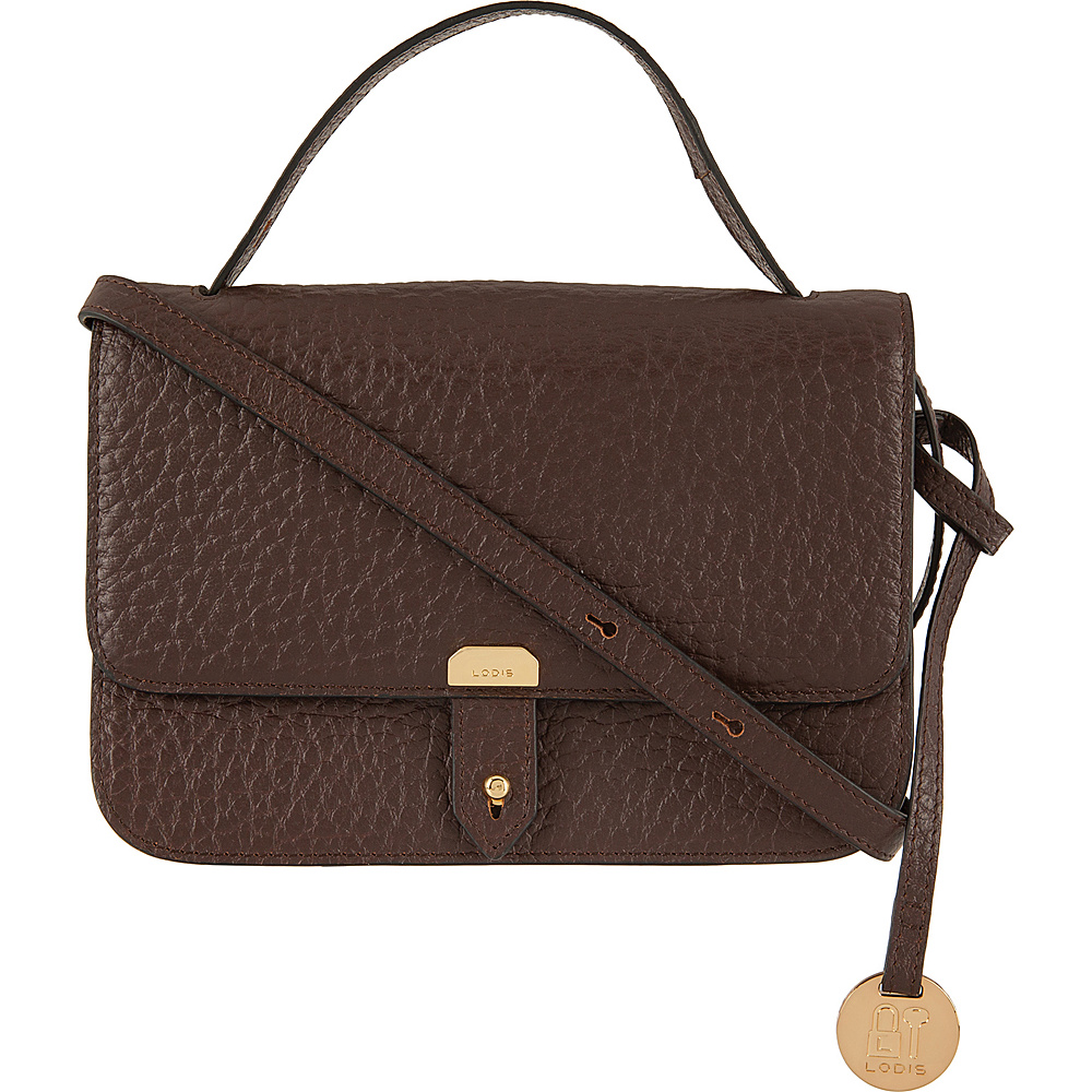 Lodis Borrego RFID Johanna Crossbody Dark Brown - Lodis Leather Handbags - Handbags, Leather Handbags