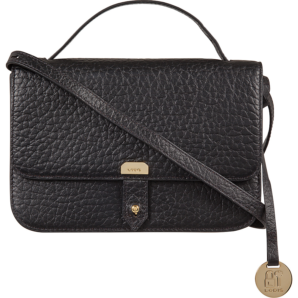Lodis Borrego RFID Johanna Crossbody Black - Lodis Leather Handbags - Handbags, Leather Handbags