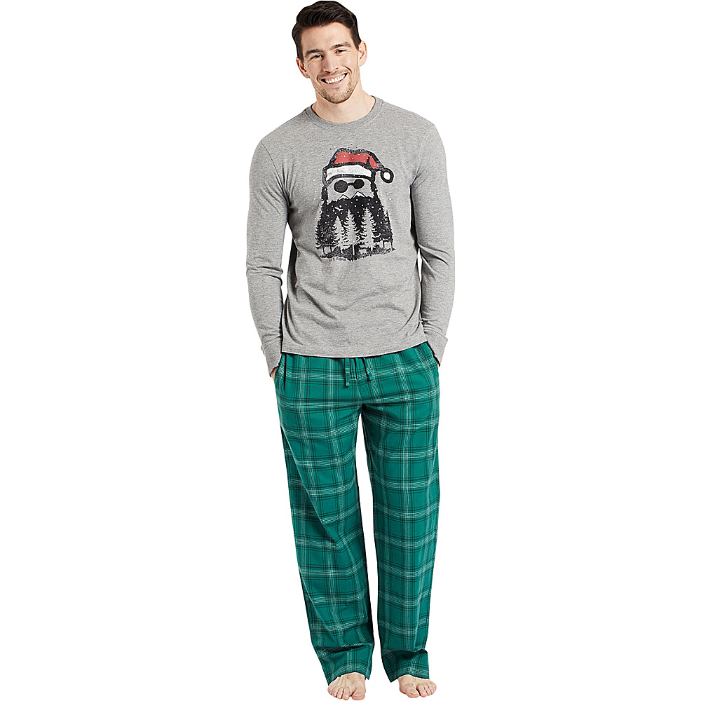 Life is good Mens Classic Sleep Pant S - Forest Green Plaid - Life is good Mens Apparel - Apparel & Footwear, Men's Apparel