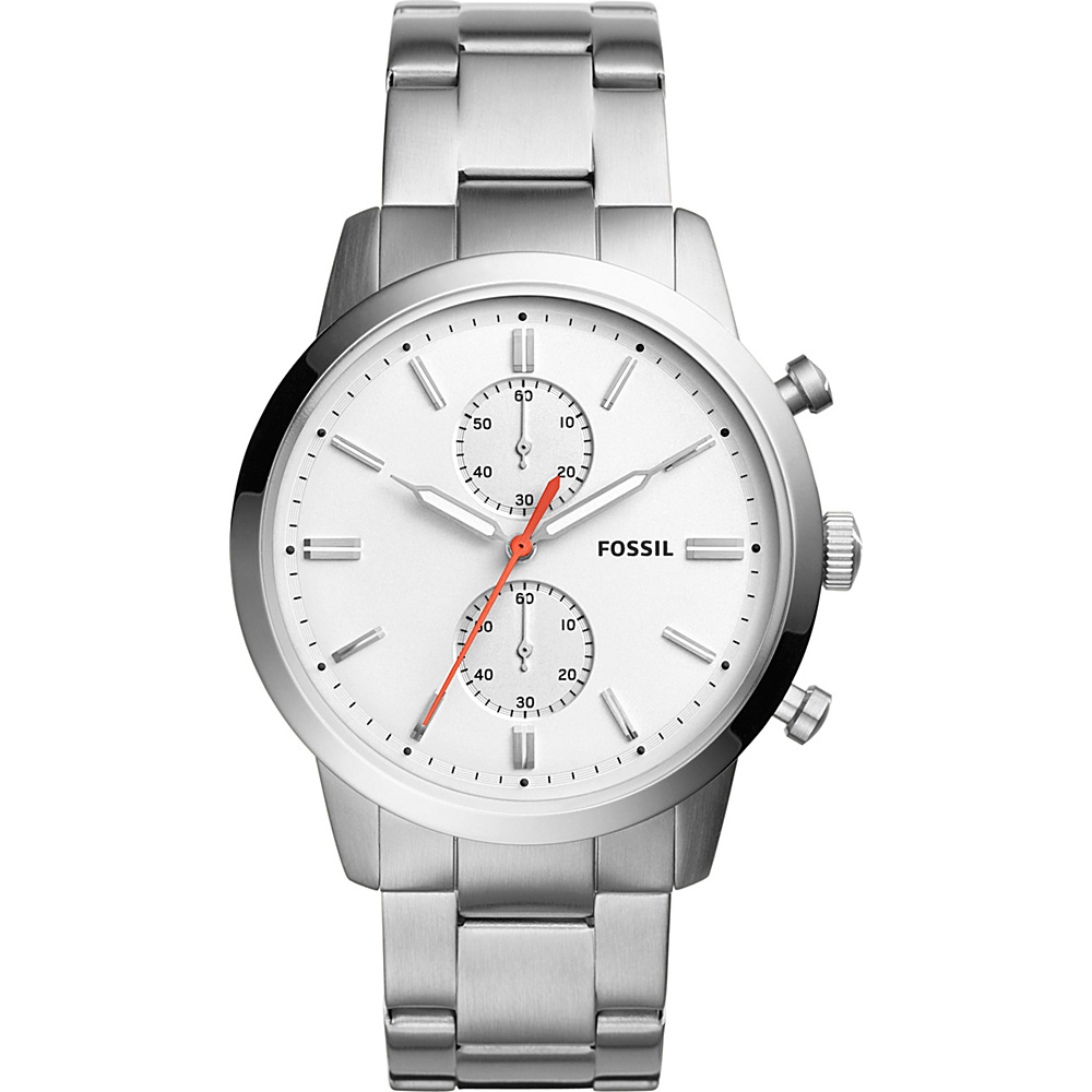 Fossil Townsman 44mm Chronograph Stainless Steel Watch Silver - Fossil Watches - Fashion Accessories, Watches