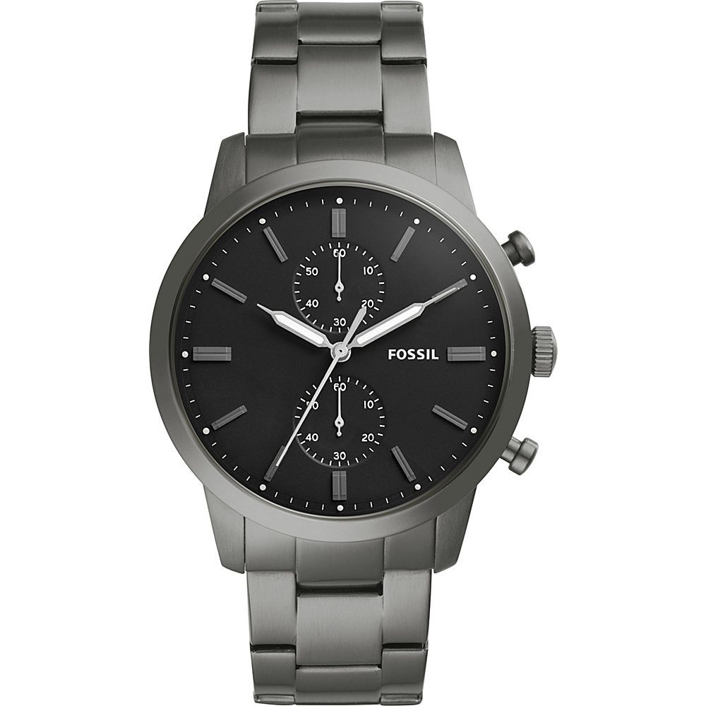 Fossil Townsman 44mm Chronograph Stainless Steel Watch Grey(Grey) - Fossil Watches - Fashion Accessories, Watches