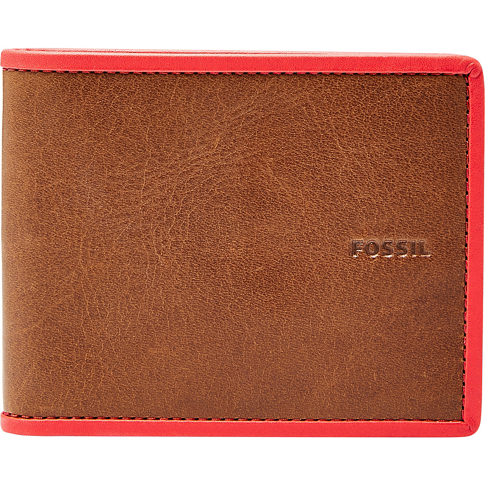 Fossil Harris Bifold Red - Fossil Mens Wallets - Work Bags & Briefcases, Men's Wallets