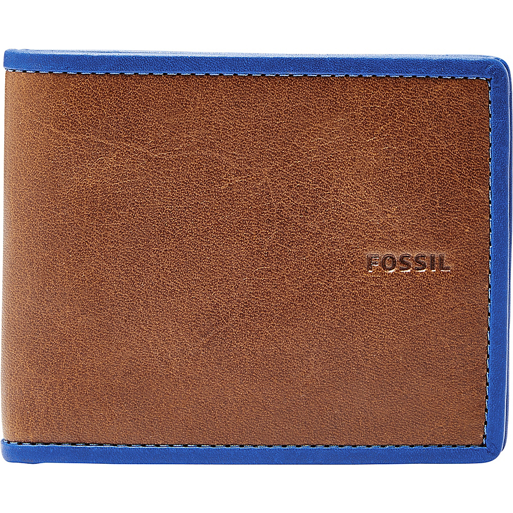 Fossil Harris Bifold Blue - Fossil Mens Wallets - Work Bags & Briefcases, Men's Wallets