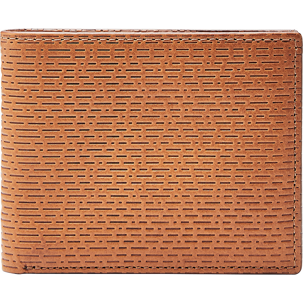Fossil Coby RFID Flip ID Bifold Cognac - Fossil Mens Wallets - Work Bags & Briefcases, Men's Wallets