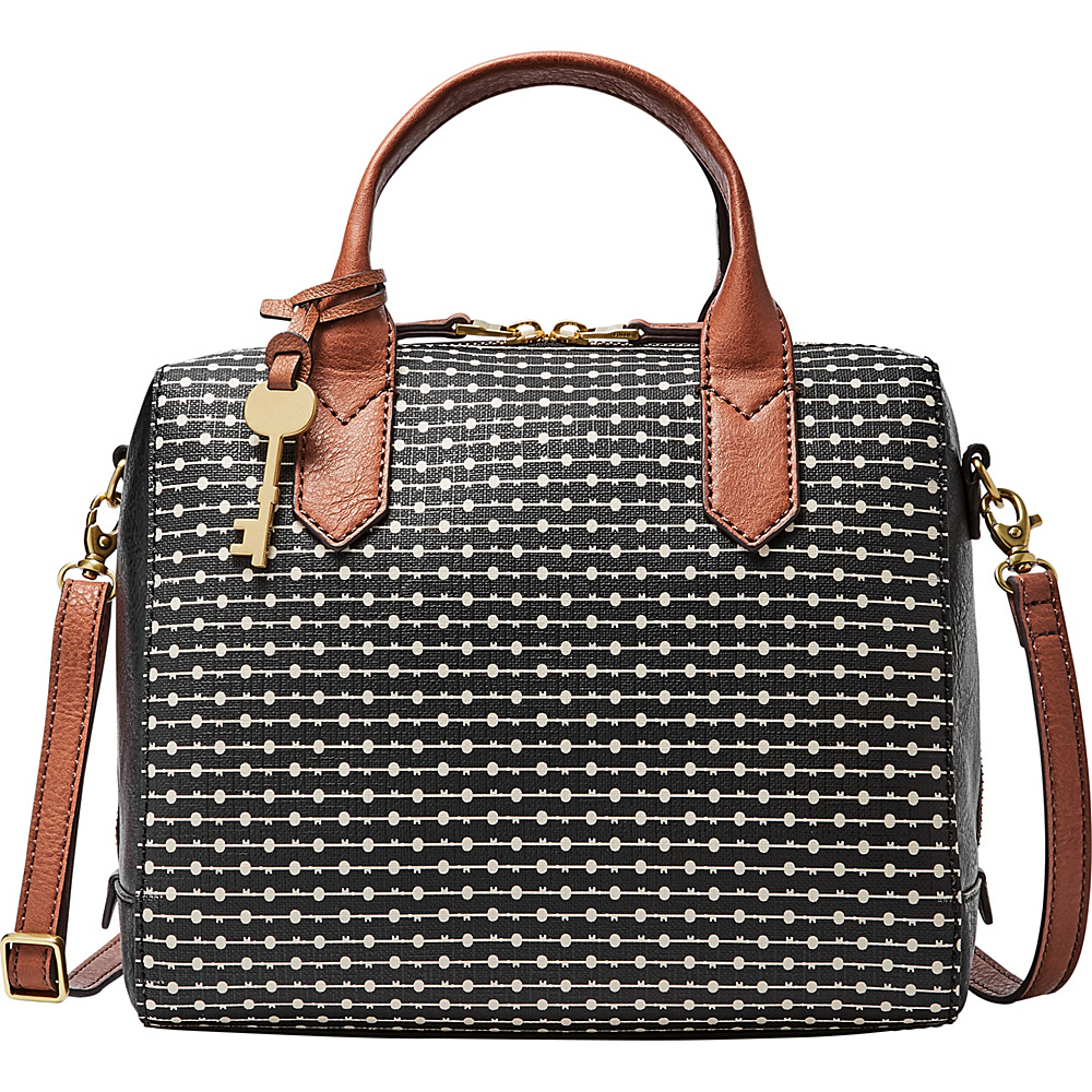 Fossil Fiona Satchel Black - Fossil Manmade Handbags - Handbags, Manmade Handbags