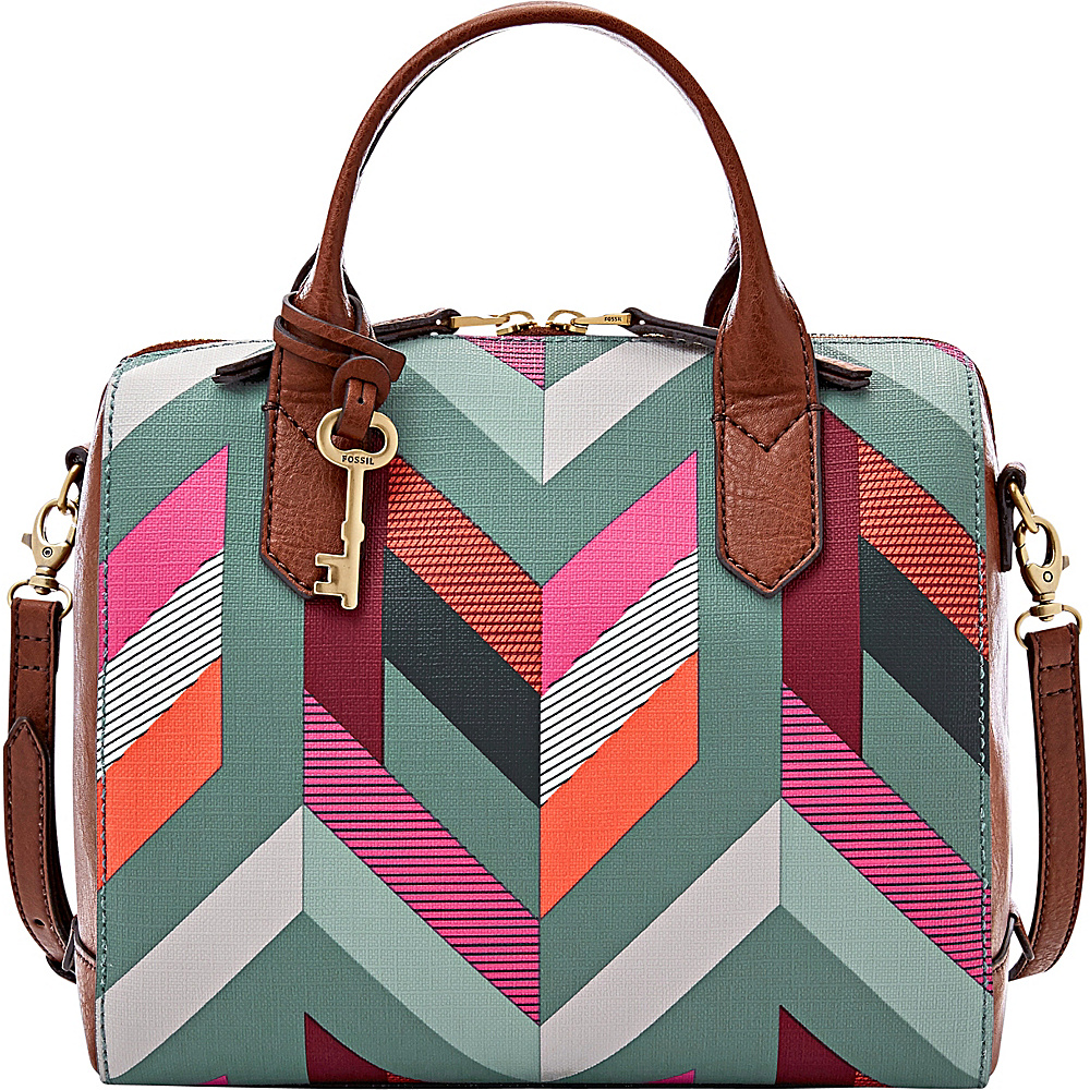 Fossil Fiona Satchel Blue - Fossil Manmade Handbags - Handbags, Manmade Handbags