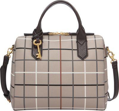 Fossil Fiona Satchel Grey - Fossil Manmade Handbags