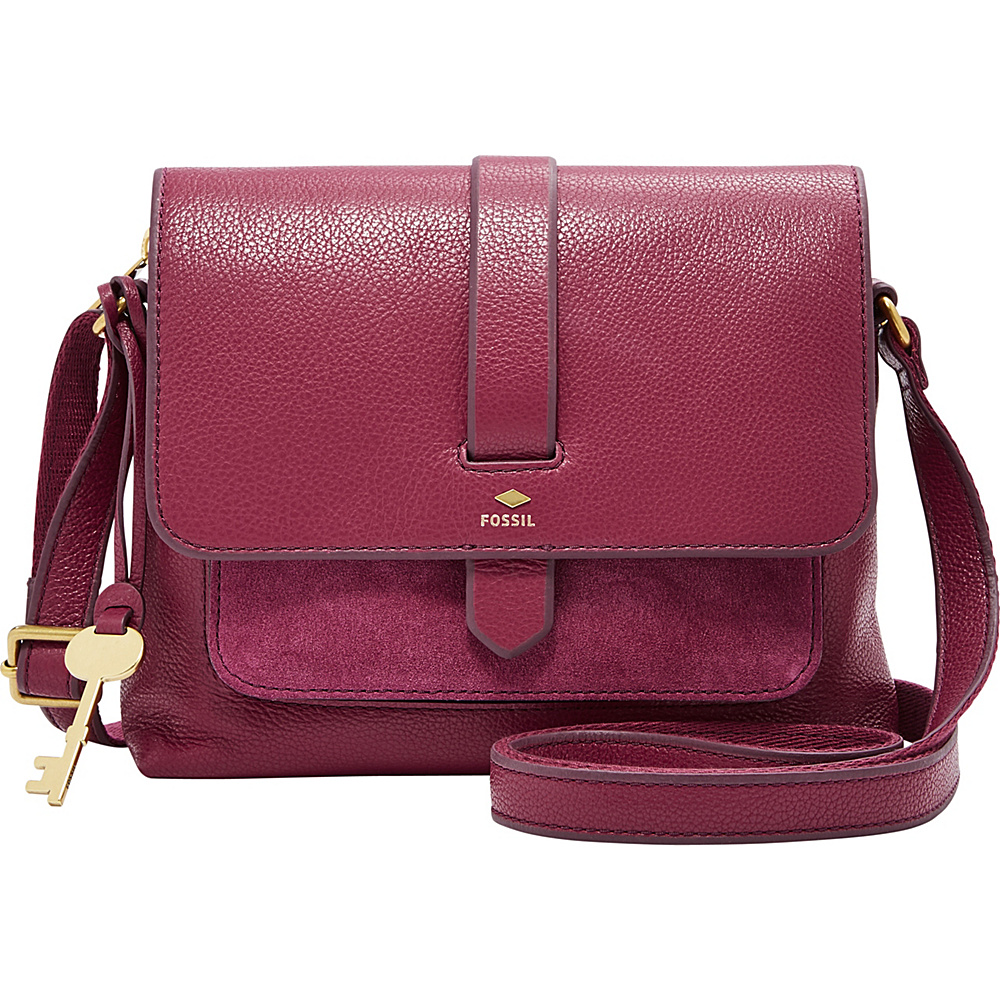 Fossil Kinley Small Crossbody Red - Fossil Leather Handbags - Handbags, Leather Handbags
