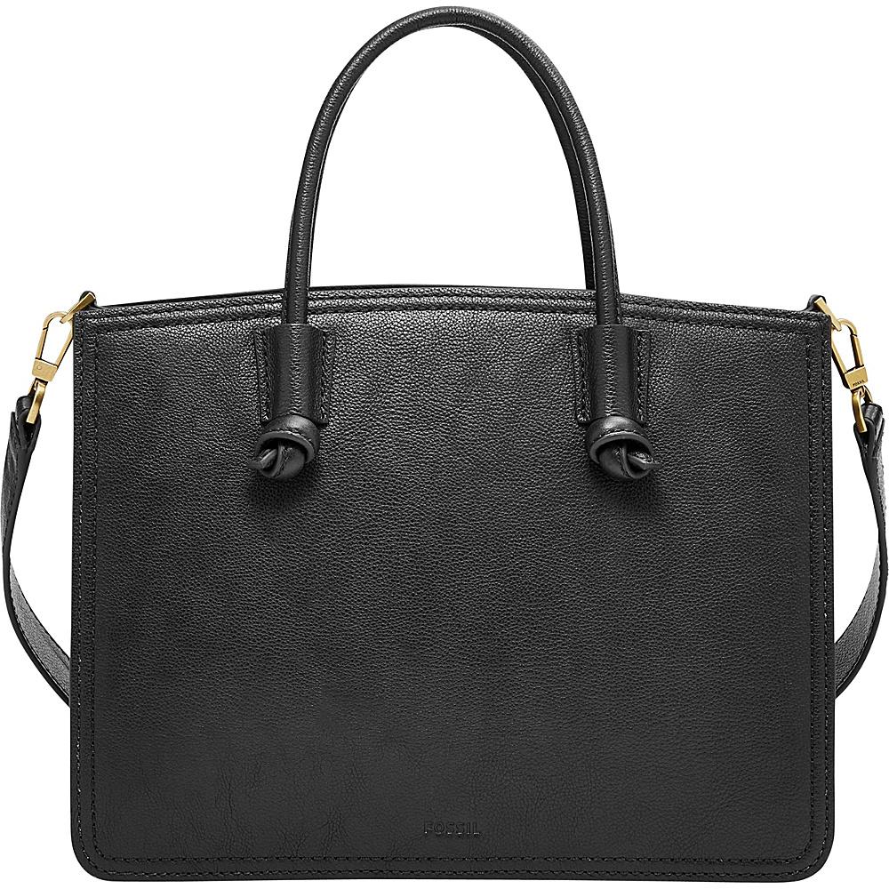 Fossil Skylar Satchel Black - Fossil Leather Handbags - Handbags, Leather Handbags