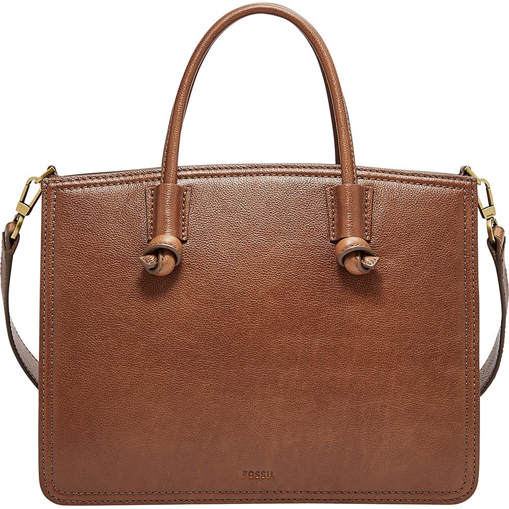 Fossil Skylar Satchel Brown - Fossil Leather Handbags - Handbags, Leather Handbags