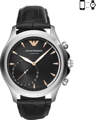 Emporio Armani Hybrid Smartwatch Black/Silver - Emporio Armani Wearable Technology