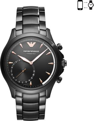 Emporio Armani Hybrid Smartwatch Black - Emporio Armani Wearable Technology