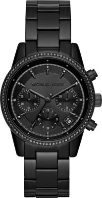Michael Kors Watches Ritz Chronograph Watch Black - Michael Kors Watches Watches