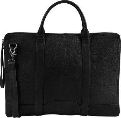 Day & Mood Addi Laptop Shoulder Bag Black - Day & Mood Leather Handbags