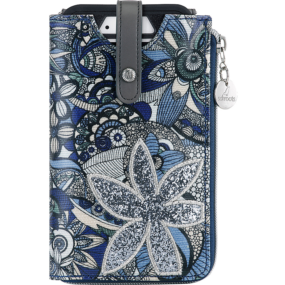 Sakroots Ella Smartphone Sling Crossbody Blue Steel Spirit Desert - Sakroots Electronic Cases - Technology, Electronic Cases